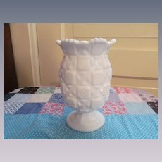 Westmoreland Old Quilt Celery Vase