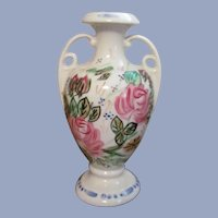 "Blue Ridge Pottery Nova Rose, Rose Marie Handled  7 1/2""  Vase"