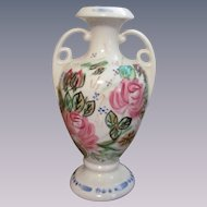 "Blue Ridge Pottery Nova Rose, Rose Marie Handled  7 1/2""  Vase"