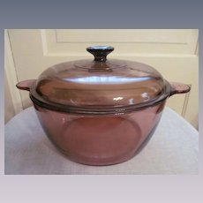 Corning Visions Amber Dutch Oven Stock Pot, 4.5L 5 quart, France