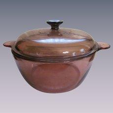Corning Visions Amber Dutch Oven Stock Pot, 4.5L 5 quart, France