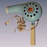 Turquoise Metal Hair Dryer, Rex Ray