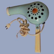 Turquoise Metal Hair Dryer, Rex Ray