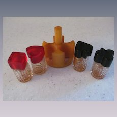 Bakelite Playing Card Suit Perfumes with Stand