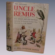 1921 Uncle Remus His Songs and His Sayings, Dust Cover by Joel Chandler Harris, Grosset & Dunlap