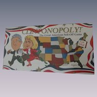 Clintonopoly President Bill and Hillary Clinton Board Game, Sealed