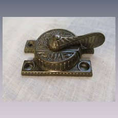 Antique Victorian Eastlake Design Window Lock