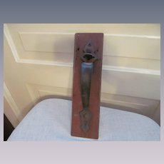 Farm Fence Barn Thumb Lever Handle, Latch Back Plate