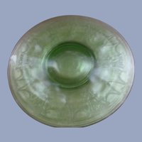 "4 Cameo Dancing Ballerina 10"" Green Dinner Plates by Hocking"