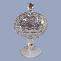 Fostoria American Covered Candy Jelly Compote Dish