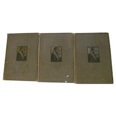 Stories of Sherlock Holmes 3 Vol Set by Conan Doyle, Publ P F Collier & Son