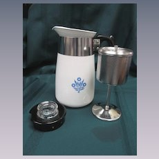 Corning Blue Cornflower 6 Cup Coffee Pot