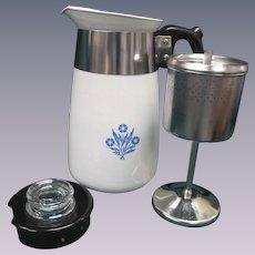 Corning Blue Cornflower 6 Cup Coffee Pot