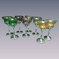 8 Chrome Farberware Cambridge Cocktail Wine Goblets