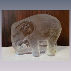 Viking Glass Elephant Bookend