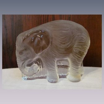 Viking Glass Elephant Bookend