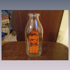 Producers Dairy Quart Milk Bottle, Peoria Illinois