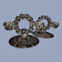 Imperial Candlewick 2 Light Candle Holders,Etched Foot