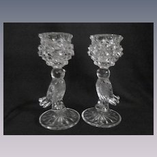 "Hofbauer Byrdes 6 3/4"" Bird Candle Holders, West Germany"