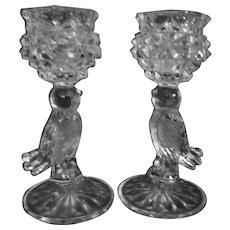"Hofbauer Byrdes 6 3/4"" Bird Candle Holders, West Germany"