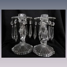 Crystal Candle Holders with Prisms