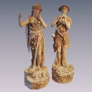 Royal Dux Shepherd 12'  Figurine Statues