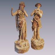 Royal Dux Shepherd 12'  Figurine Statues