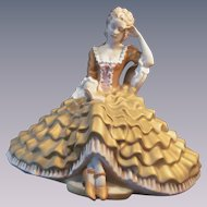 Royal Dux Porcelain Lady with Book Figure Statue