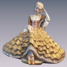 Royal Dux Porcelain Lady with Book Figure Statue
