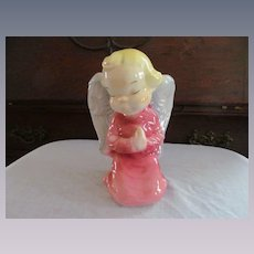 Royal Copley Pink Girl Cherub Angel Wall Pocket Planter