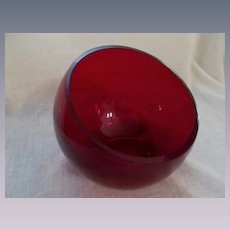 Viking Mid Century Ruby Retro Orb Ashtray Bowl