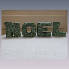 Lefton Holly Noel Letters Candle Holders