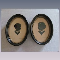 Wallie Spatz Silhouettes. Signed Dated 1956