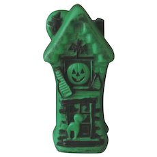 Halloween Haunted House Blow Mold Plastic Lamp Light with Cord
