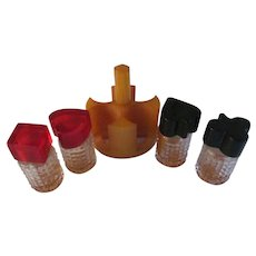 Bakelite Card Suit 5pc Mini Perfume Set