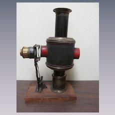 Early German Magic Lantern Kerosene Projector, Wiener Flachbrenner