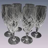 "6 Mikasa Crystal Windless 8 1/4"" Goblets"