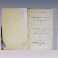 1848 History of the Peloponnesian War, Volume 2, Published by Harper & Brothers