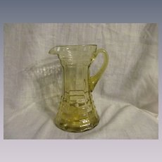 Canary Yellow Block & Ring Pitcher