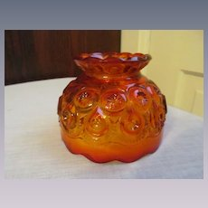 """Amberina Moon and Star 4 1/2"""" Shade for Candle Fairy Lamp, L E Smith"""