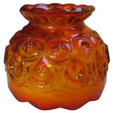 "Amberina Moon and Star 4 1/2"" Shade for Candle Fairy Lamp, L E Smith"