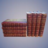 1901 With the World's Great Travellers, 8 Vol Set, Special Edition. Morris and Leigh, Union Book Company Publishers