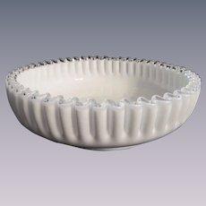 "Fenton Silver Crest Low Shallow 9.5"" Bowl"