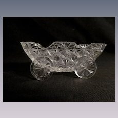 Buttons and Bows Figural Cart Toothpick Holder, L G Wright, 1960's