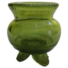 EAPG Olive Green Colorado Toothpick Holder by US Glass