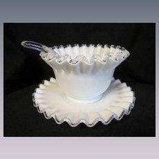 Fenton Silver Crest Mayo Set with Underplate and Ladle