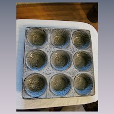 Gray Graniteware 9 Cup Muffin Pan