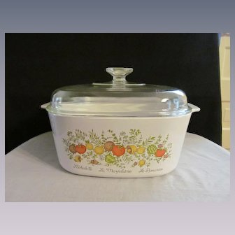 Corning Spice of Life 5 Quart Covered Casserole