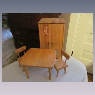 Strombecker Closet, Dining Table and Chairs