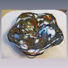 """Murano Venetian 11 1/2""""  Confetti Bowl"""